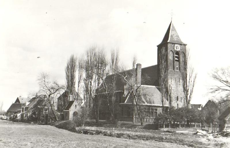 De dorpskerk in Kethel