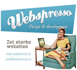 Website sponsored door Webspresso, Bureau voor Internetcommunicatie